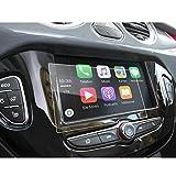 LFOTPP Opel Corsa 3 portes / Corsa 5 portes / Zafira / Karl Rocks Film de Protection de Navigation- Système de Navigation Anti-Rayures 9H Anti-Rayures Protection écran Protection GPS Navi (7 Pouces)