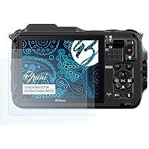 Bruni Schutzfolie für Nikon Coolpix AW120 Folie - 2 x glasklare Displayschutzfolie