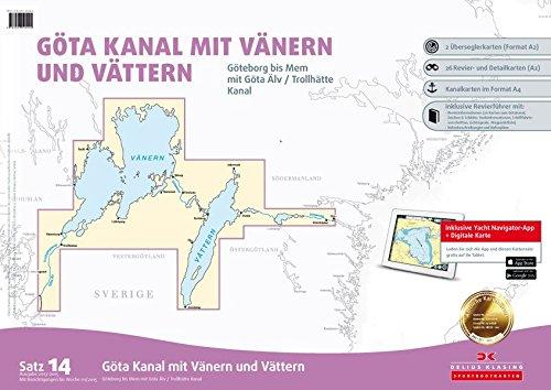 Satz 14: Götakanal mit Vänern und Vättern (berichtigt bis 2015): Göteborg bis Mem mit Göta Älv und Trollhätte Kanal: Alle Infos bei Amazon