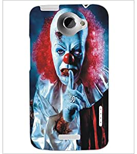 PrintDhaba Scary Face D-5379 Back Case Cover for HTC ONE X (Multi-Coloured)