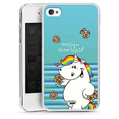 DeinDesign Hülle kompatibel mit Apple iPhone 4s Handyhülle Case Einhorn Pummeleinhorn Pummel und Freunde