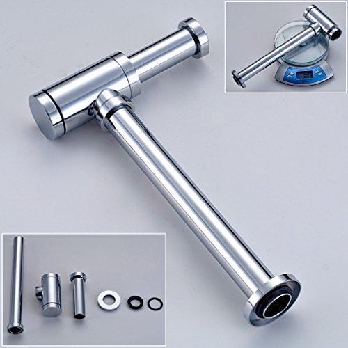 Auralum® Chrome Design Sifon Siphon Röhrensiphon Syphon Messing f. Waschbecken Waschtisch