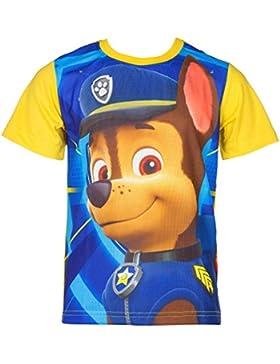 Paw Patrol T-Shirt für Kinder, original Lizenzware, blau/gelb, Gr. 98 - 116