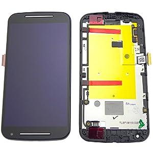 Motorola Moto G2 Display Premium XT1068 LCD Einheit + Touchscreen + Rahmen + Werkzeug Screen Schwarz - ToKa-Versand®
