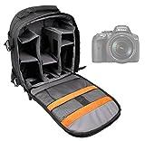 DURAGADGET Sac à dos noir pour appareils photo Nikon DF, D5300 & D3300 et Sony DSC-HX400 / HX400V, DSC-RX10M3 / RX10 III - poignée et lanières rembourrées