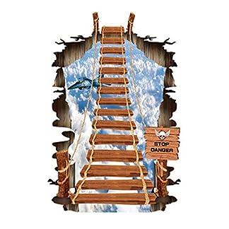 Etiqueta De La Pared 3D Etiqueta De La Pared Rota,Mural De Papel Tapiz De Dibujos Animados Para La Decoración De La Sala De Estar Del Dormitorio