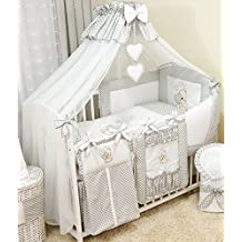 Stunning Baby Cot/Cot Bed Canopy Drape/ Big 485cm +Canopy Free Floor Standing Holder (Grey)