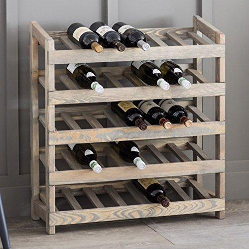 CKB Ltd Deluxe 35 Flaschen Groß Wine Rack Weinregal Flaschenständer Holz Freistehende – Wood...