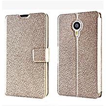 Prevoa ® 丨Flip Funda Cover Case para Meizu MX4 PRO 5.5 Pulgadas Smartphone - Oro