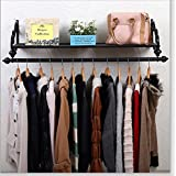 Perchero de Wall Coat Racks Estilo Europeo Dormitorio perchas Creative ropa gancho Wall pared decorativa Stands Retro Color ( Tamaño : 150cm )