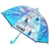 alles-meine.de GmbH Regenschirm -  Disney die Eiskönigin - Frozen - ELSA & Anna  - Incl. Name - ..