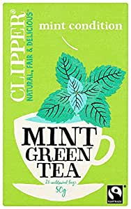 Clipper Mint Green Tea  26 Teabags (Pack of 6, Total 156 Teabags)