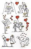 AVERY Zweckform 55181 Deko Sticker Brautpaar 9 Aufkleber