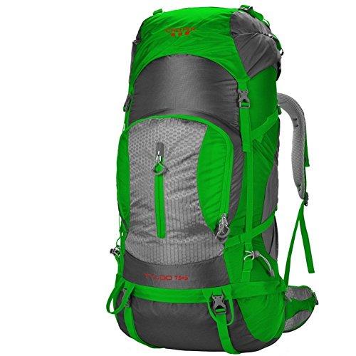 Sincere® Package / Sacs à dos / Portable / Ultraléger Outdoor sac d'escalade / sac Voyage épaules / 80L tactique / camping en plein air randonnée à dos-vert 80L