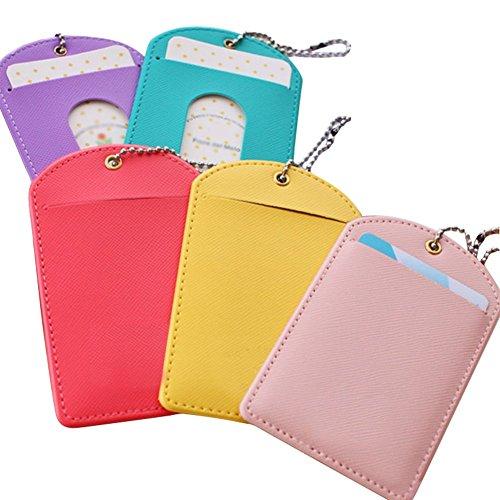 Contenido del paquete: 5Unidades), color aleatorio adecuado para tarjetas de crédito, carnet de conducir, pasaporte, tarjetas de nombre, tarjetas de visita, Student documentos de identidad, tarjetas de bus, documentos de identidad, etc.