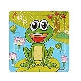 Omiky® Frosch Hölzerne Kinder Puzzle Bildung und Lernen Puzzles Spielzeug (Mehrfarbig)