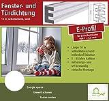 Fensterdichtung Türdichtung Dichtungsband für Tür- und Fensterspalten, E-Profil 10 m, weiß, selbstklebend [CLASSIC] - Für Spaltenbreiten von 1 - 3,5 mm
