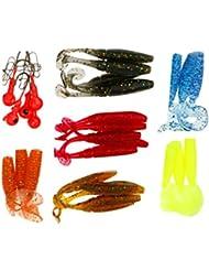 Gazechimp Lot de 24pcs Leurres Souples de Pêche Appât Simulation en Plastique