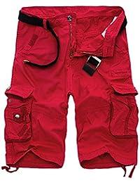 Quge Hombres Militar Laboral Pantalones Cortos Leisure Casual Camuflaje  Bermudas… 130f95b736dd