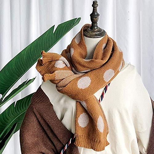 BMY Schal Herbst und Winter weiblich Winter Welle Strickgarn niedlichen Kragen männlich (Farbe: Khaki) -
