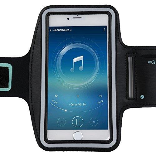 """Iphone 6 Plus/6S Plus(5.5"""")Case YOKIRIN® Sport Armband Hülle Sweatproof Joggen + Schlüsselhalter - kann Anfassen Trackpouch-Schwarz Farbe1"""
