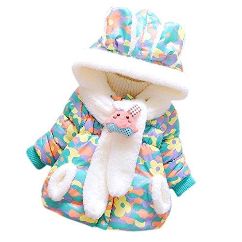 Babykleidung Sourpa Baby Mädchen sehr nette Winter Warme Starke Faux Pelz mit Kapuze Mantel Jacken Kleidung (12 Monate, Grün) (Jugend-natur-t-shirts)