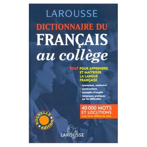 Dictionnaire français collège