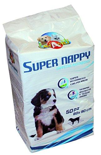Croci Dog Assorbente Super Nappy, 90 x 60 cm, Confezione da 50