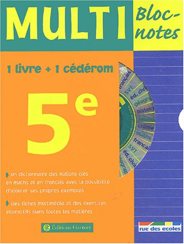 Multi Bloc-notes 5ème (1 CD-Rom inclus)