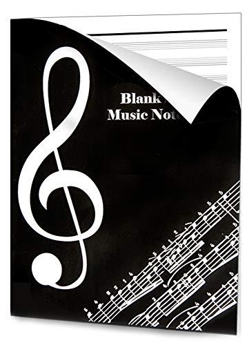 Notebook Musicale OntaRyon Blocco Note Carta Manoscritti Quaderni Pentagraati Libri di Composizione per Musicisti 36 Pagine Singer Stitched Bound