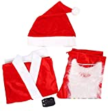 Children's / Kids Christmas Santa Suit Fancy Dressing Up (SantaDress_Red & White_-0-3 Years)
