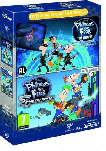 Pack Spiel + DVD Disney Phineas & Ferb 2ND Dimension [Spiel Wii]