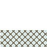 Laroom 14164 – Alfombra para cocina de vinilo, azulejos de flores, 140cm