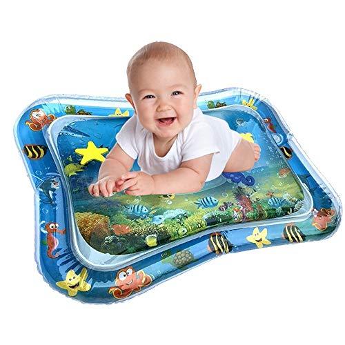 Aufblasbare Baby Wassermatte, Bauch Zeit Auslaufsicheres Wassergefüllte Spielmatte für Kinder, Spaßaktivitäten Spielcenter mit Schwimmelementen Stimulationswachstum Ihres Babys