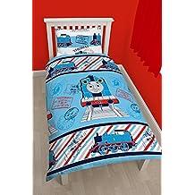 Character World Thomas Adventure - Juego de ropa de cama reversible (91 cm, individual), multicolor