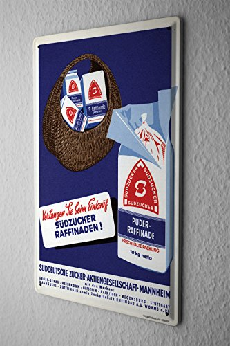 tin-sign-sudzucker-werbeschild-demand-cm-when-shopping-sudzucker-advertising-past-old-school-20x30
