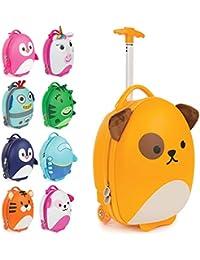 boppi Tiny Trekker trolley per bambini bagaglio a mano trolley con maniglia trolley leggero con ruote valigia a mano 17 litri