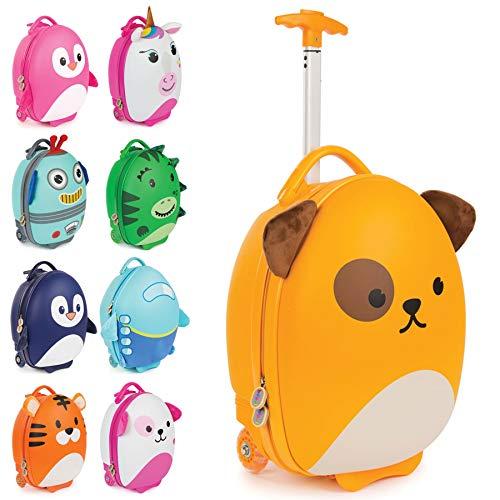 boppi Tiny Trekker trolley per bambini bagaglio a mano trolley con maniglia trolley leggero con ruote valigia a mano 17 litri - Cane