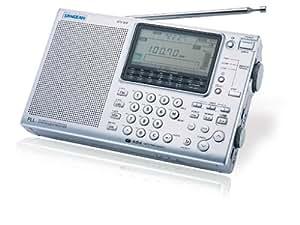 Sangean ATS 909 w Radio numérique FM Stéréo AM / SW / PLL Horloge Alarme Haut-parleur Antenne Ecouteurs Argent