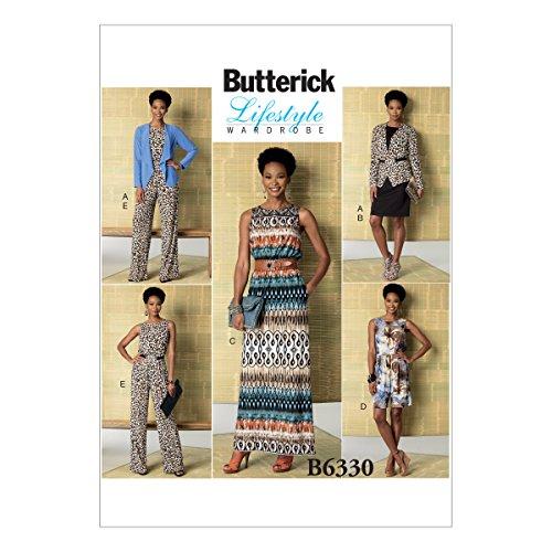 Butterick Muster Schnittmuster Jacke/Kleid und Overall, Größen groß–2x Große