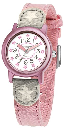jacques-farel-oko-kinderuhr-mit-bio-baumwolle-madchen-sterne-rosa-org-02sta