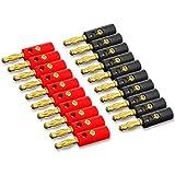 EZI 20 x Lautsprecher Bananenstecker Bananen Stecker Banane Bananas Vergoldete High End 4mm² Lautsprecherkabel