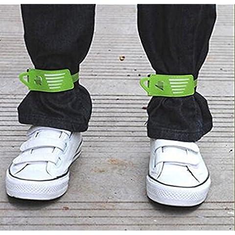 Bandas 2PCS para Bicicleta reflectante Velcro del tobillo de la pierna Enlazar Pant Clip correa al aire