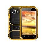 Smartphone Robuste, Kenxinda W6 IP68Etanche/Antipoussière/Antichoc 4G Outdoor Téléphone Débloqué (Écran : 4,5 pouces MTK6735 Android 6.0 Quad-Core 1.5GHz 1 Go de ROM et 8 Go de RAM Dual Sim 2600mAh)