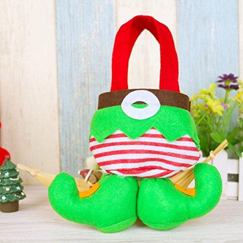 QHGstore Articoli da regalo Borsa Borsa regalo di Natale delle decorazioni Elf Candy Bag di Natale Trattare Borse