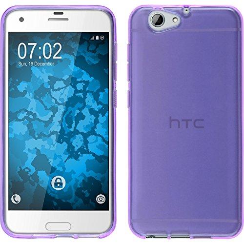 PhoneNatic Case kompatibel mit HTC One A9s - lila Silikon Hülle transparent Cover