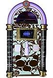 Strausser: Die vollständigste handgemachte Jukebox mit Allen modernen Audiofunktionen (Brown Green Flowers)