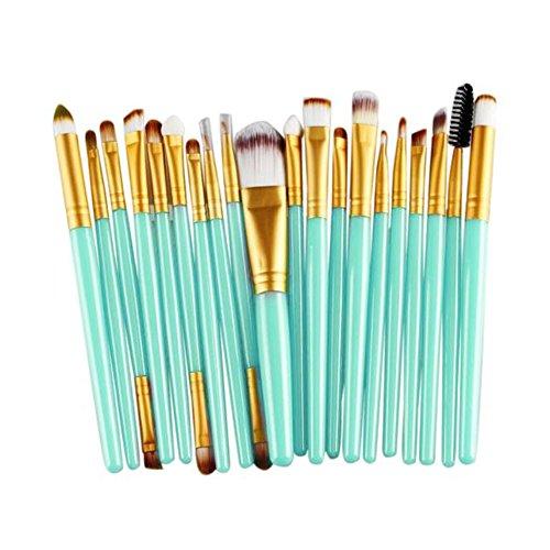 Fami Ensemble de pinceau de maquillage de 20 pièces Ensemble de toilette, Ensemble de brosse de laine,Or