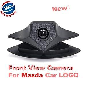Auto Wayfeng WF® Auto Front Cam Parksystem IP68 Wasserdicht Weitwinkel 480 TVL HD Farbe für Mazda Logo Front Kamera Mazda 2 3 5 6 8 CX-7 CX-9