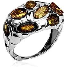Bernstein Sterling Silber Krebsschere Ring